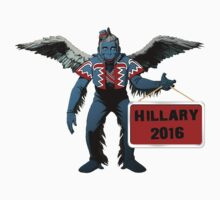 Hillary Clinton 2016 Spoof for President Flying  Monkey Funny Shirt, Sticker, Poster, Cases, Totes by 8675309