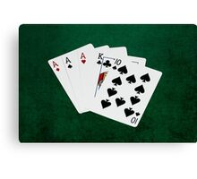 Poker Hands - Three Of A Kind - Ace Canvas Print