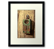 old military tricolor signal flashlight Framed Print
