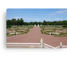 views on beauty Royal garden from the balcony of the palace Canvas Print