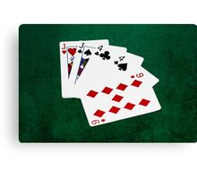 Poker Hands - Two Pair - Jack, Four Canvas Print