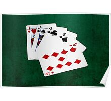 Poker Hands - Two Pair - Jack, Four Poster