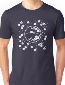 Mt. Fuji and Plum Blossoms - Winter Unisex T-Shirt