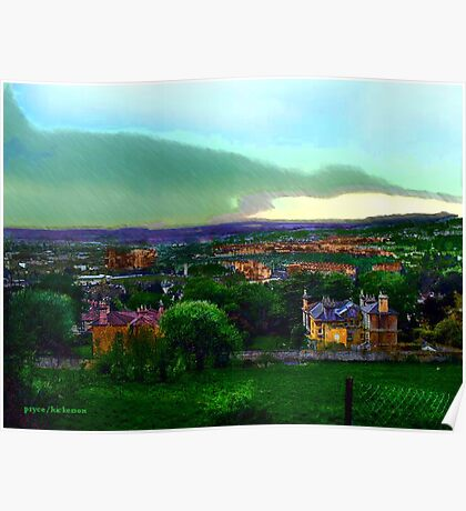 Rainy Day in Bath Poster