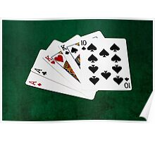 Poker Hands - Two Pair - Ace, King Poster