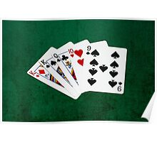 Poker Hands - One Pair - Kings Poster