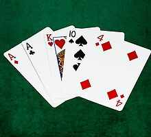 Poker Hands - One Pair - Aces by luckypixel