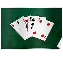 Poker Hands - One Pair - Aces Poster