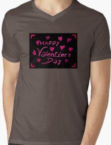 Happy Valentines Day greeting card Mens V-Neck T-Shirt