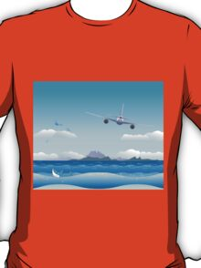 Airplane over Sea T-Shirt