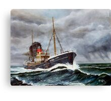 Gun Running Trawler WW2  Canvas Print