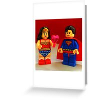 Wonder Woman Loves Superman Greeting Card