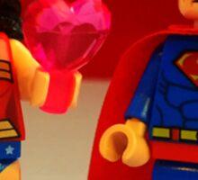 Wonder Woman Loves Superman Sticker