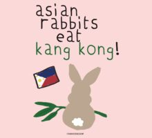 asian rabbits eat kang kong by frankierose