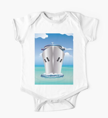 Cruise Liner in the Sea One Piece - Short Sleeve