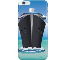 Cruise Liner in the Sea 2 iPhone Case/Skin