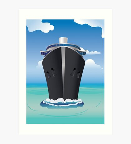 Cruise Liner in the Sea 2 Art Print
