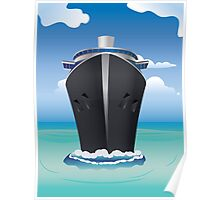Cruise Liner in the Sea 2 Poster