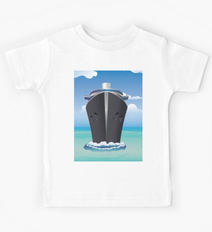 Cruise Liner in the Sea 2 Kids Tee