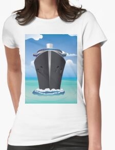 Cruise Liner in the Sea 2 Womens Fitted T-Shirt