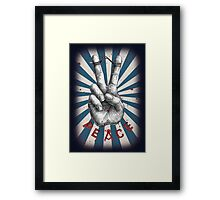 Ironically Peace Framed Print