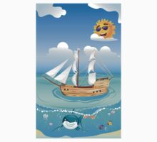 Wooden Ship in the Sea 2 Kids Clothes