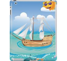 Wooden Ship in the Sea 2 iPad Case/Skin