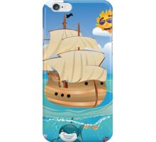 Wooden Ship in the Sea iPhone Case/Skin