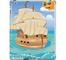 Wooden Ship in the Sea iPad Case/Skin