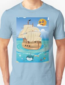 Wooden Ship in the Sea T-Shirt