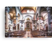 The church of San Canciano, Venice Canvas Print