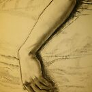 Charcoal arm drawing by Sladeside