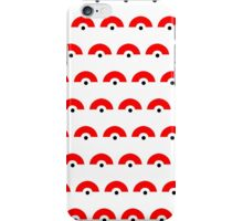 HALF POKEBALL REPEATING iPhone Case/Skin