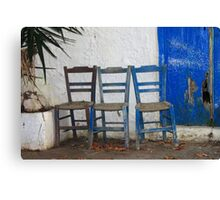 Take a Seat  - JUSTART ©  Canvas Print