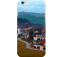 Autumn season village panorama | landscape photography iPhone Case/Skin