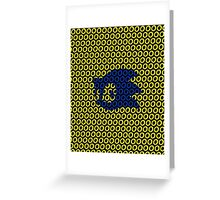 Sonic and Rings Design (Black Background) Greeting Card