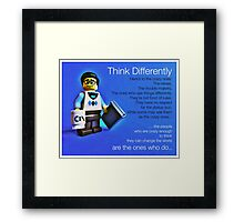 Think differently...... Framed Print