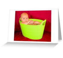 Bath Tub Baby Greeting Card