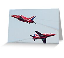 Red Arrows Crossover Greeting Card