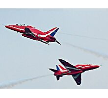 Red Arrows Crossover Photographic Print