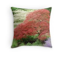 Two Tone Trees Throw Pillow