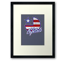 DC Capitals - Retro America Framed Print