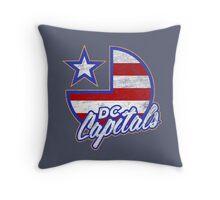 DC Capitals - Retro America Throw Pillow