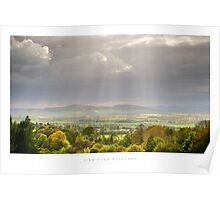View over Buckland, Gloucestershire Poster
