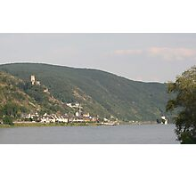 The Rhein And Burg Gutenfels Photographic Print