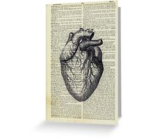 Heart on Book Greeting Card