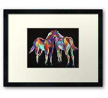 Little Paint Ponies Framed Print