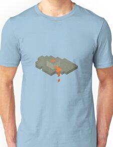Isometric Floating Island Volcano Unisex T-Shirt