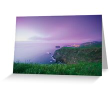 Mosteiros at twilight, Azores Greeting Card