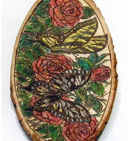 butterflies n roses Sticker